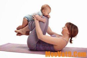 Các động tác thể dục đơn giản giúp giảm eo sau sinh hiệu quả