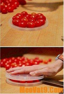 Mẹo cắt cà chua nhanh chỉ trong nháy mắt, rất đẹp